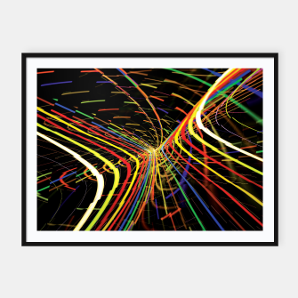 Thumbnail image of Rainbow Road Framed poster, Live Heroes
