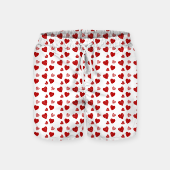 Thumbnail image of Red Hearts Pattern  Swim Shorts, Live Heroes