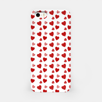 Thumbnail image of Red Hearts Pattern  iPhone Case, Live Heroes