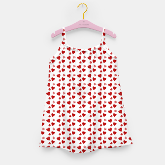 Thumbnail image of Red Hearts Pattern  Girl's dress, Live Heroes