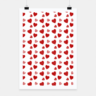Thumbnail image of Red Hearts Pattern  Poster, Live Heroes