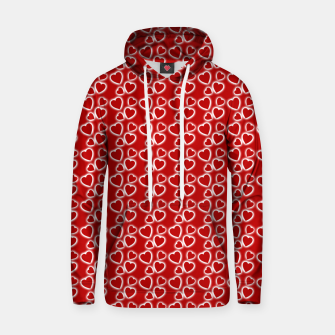 Red Glowing hearts pattern Hoodie obraz miniatury