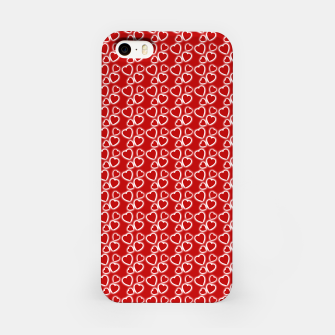 Red Glowing hearts pattern iPhone Case obraz miniatury