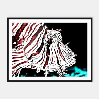 Thumbnail image of poisonous exotic lionfish va2s Framed poster, Live Heroes
