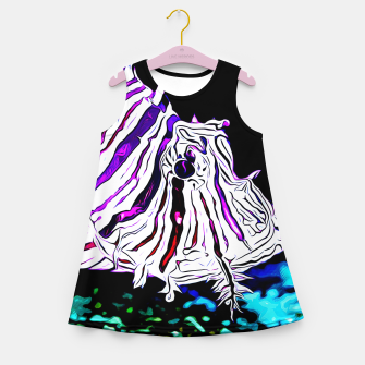 poisonous exotic lionfish va Girl's summer dress thumbnail image