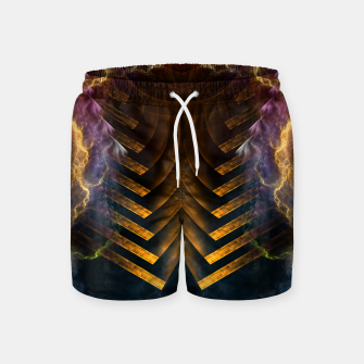 Thumbnail image of Storm Gate Fractal Abstract Swim Shorts, Live Heroes
