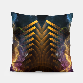 Thumbnail image of Storm Gate Fractal Abstract Pillow, Live Heroes