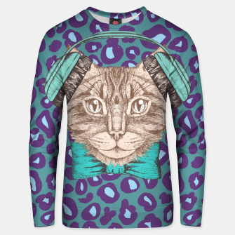 Thumbnail image of Cat Music Skin Unisex sweater, Live Heroes