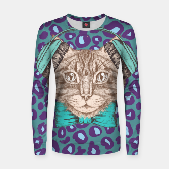 Thumbnail image of Cat Music Skin Women sweater, Live Heroes