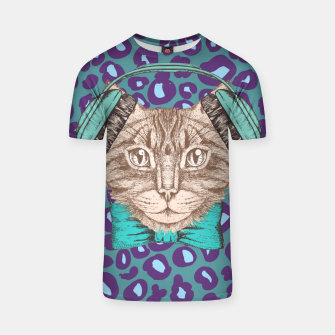 Thumbnail image of Cat Music Skin T-shirt, Live Heroes