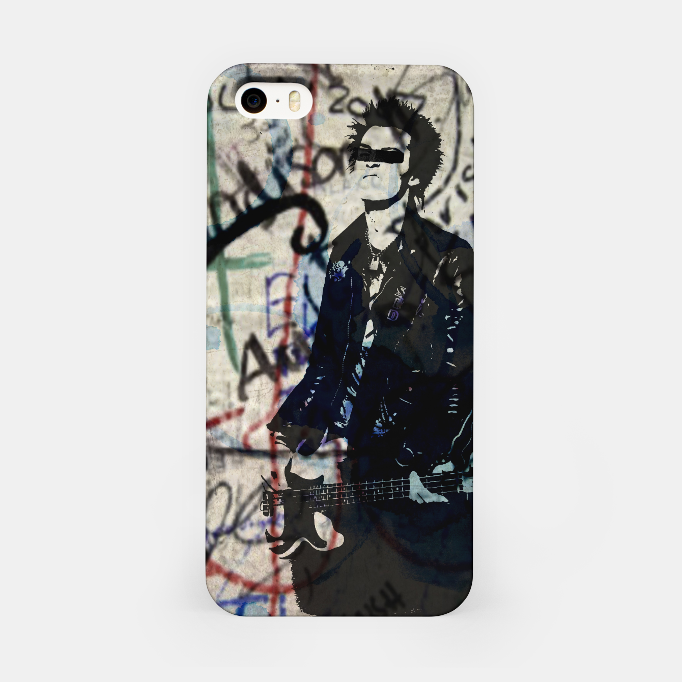 Foto Graffitied - Punk Vicious iPhone Case - Live Heroes