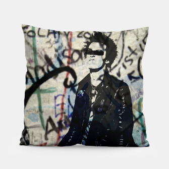 Graffitied - Punk Vicious Pillow Bild der Miniatur