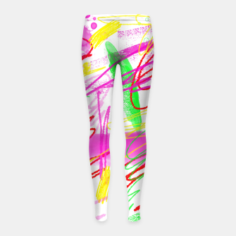 Thumbnail image of Jolly Ellis Girl's leggings, Live Heroes