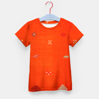 Miniaturka Vintage Orange Anthropologie Moroccan Artwork. Kid's t-shirt, Live Heroes