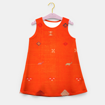 Miniaturka Vintage Orange Anthropologie Moroccan Artwork. Girl's summer dress, Live Heroes