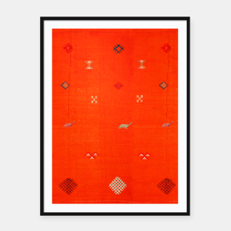 Miniaturka Vintage Orange Anthropologie Moroccan Artwork. Framed poster, Live Heroes