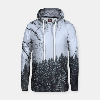 Thumbnail image of Trees and snow Hoodie, Live Heroes
