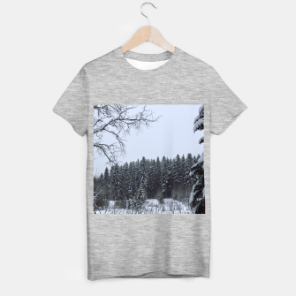 Thumbnail image of Trees and snow T-shirt regular, Live Heroes
