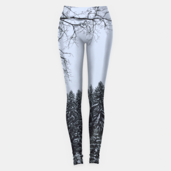 Thumbnail image of Trees and snow Leggings, Live Heroes