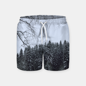 Thumbnail image of Trees and snow Swim Shorts, Live Heroes