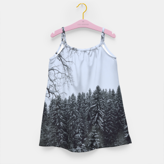 Thumbnail image of Trees and snow Girl's dress, Live Heroes