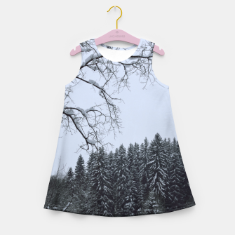 Thumbnail image of Trees and snow Girl's summer dress, Live Heroes