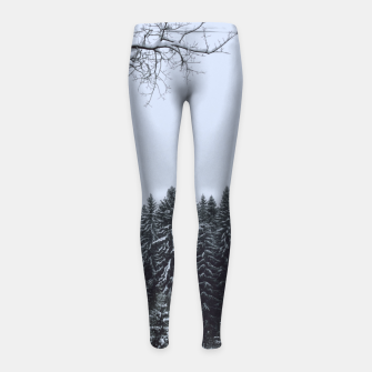 Thumbnail image of Trees and snow Girl's leggings, Live Heroes