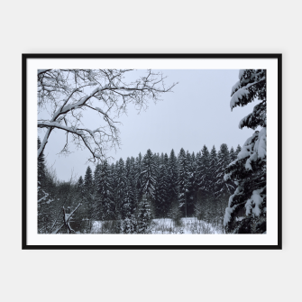 Thumbnail image of Trees and snow Framed poster, Live Heroes
