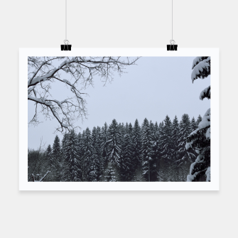 Thumbnail image of Trees and snow Poster, Live Heroes