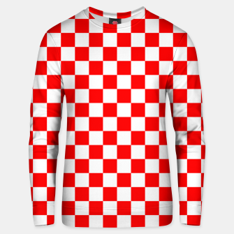Miniatur Croatian Red White Checker Pattern Unisex sweater, Live Heroes