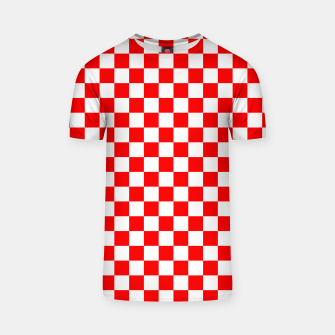 Miniatur Croatian Red White Checker Pattern T-shirt, Live Heroes