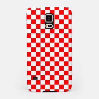 Miniatur Croatian Red White Checker Pattern Samsung Case, Live Heroes