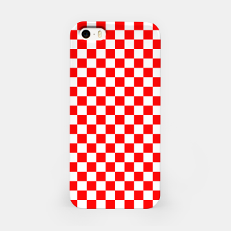 Miniatur Croatian Red White Checker Pattern iPhone Case, Live Heroes