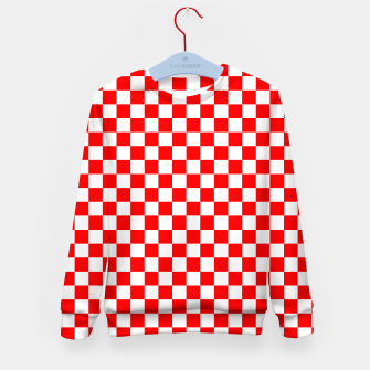 Miniatur Croatian Red White Checker Pattern Kid's sweater, Live Heroes