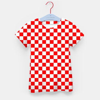 Miniatur Croatian Red White Checker Pattern Kid's t-shirt, Live Heroes