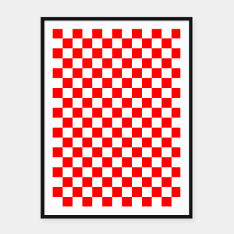 Miniatur Croatian Red White Checker Pattern Framed poster, Live Heroes