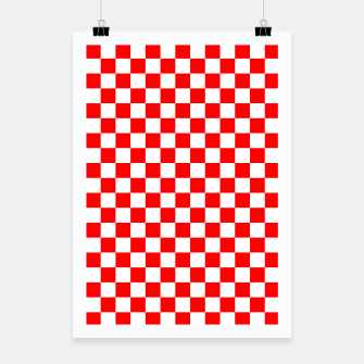 Miniatur Croatian Red White Checker Pattern Poster, Live Heroes