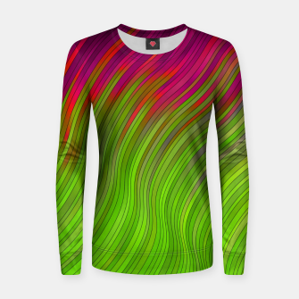 Miniatur stripes wave pattern 2 with lines vw81i Women sweater, Live Heroes