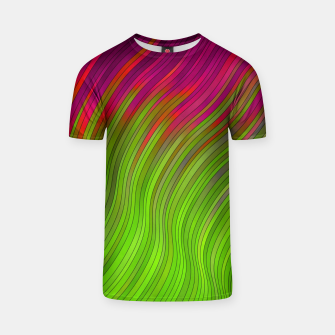 Miniature de image de stripes wave pattern 2 with lines vw81i T-shirt, Live Heroes