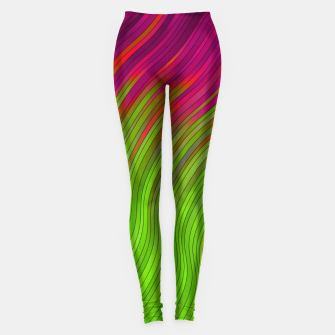 Miniature de image de stripes wave pattern 2 with lines vw81i Leggings, Live Heroes