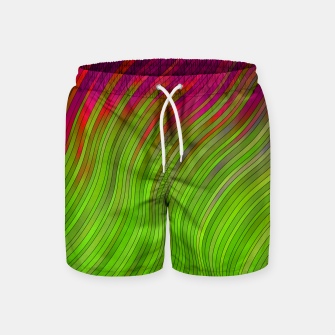Miniature de image de stripes wave pattern 2 with lines vw81i Swim Shorts, Live Heroes