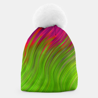stripes wave pattern 2 with lines vw81i Beanie miniature