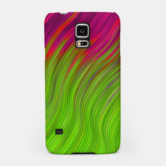 Miniatur stripes wave pattern 2 with lines vw81i Samsung Case, Live Heroes