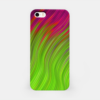 stripes wave pattern 2 with lines vw81i iPhone Case miniature