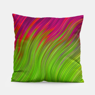 Miniatur stripes wave pattern 2 with lines vw81i Pillow, Live Heroes