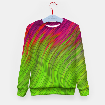 Miniatur stripes wave pattern 2 with lines vw81i Kid's sweater, Live Heroes