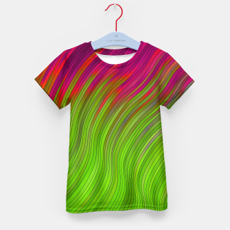 stripes wave pattern 2 with lines vw81i Kid's t-shirt miniature