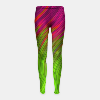 Miniature de image de stripes wave pattern 2 with lines vw81i Girl's leggings, Live Heroes