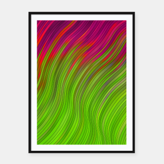 Miniatur stripes wave pattern 2 with lines vw81i Framed poster, Live Heroes
