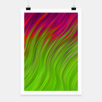 stripes wave pattern 2 with lines vw81i Poster miniature